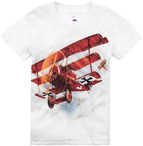 Shirts That Go Little Boys' Red Baron Aiplane T-Shirt