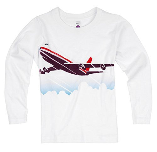 Shirts That Go Little Boys' Long Sleeve Jet Airplane T-Shirt