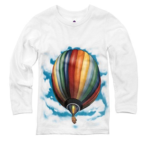 Shirts That Go Little Boys' Long Sleeve Hot Air Balloon T-Shirt