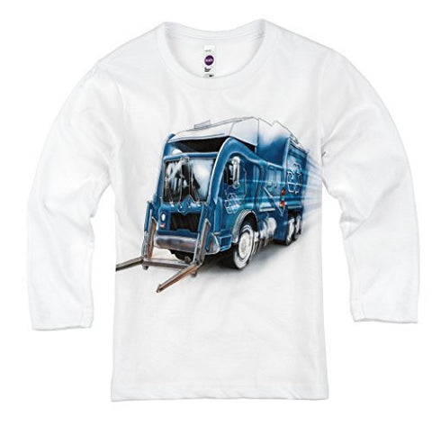 Shirts That Go Little Boys' Long Sleeve Recycle Truck T-Shirt