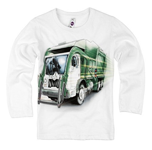 Shirts That Go Little Boys' Long Sleeve Big City Garbage Truck T-Shirt