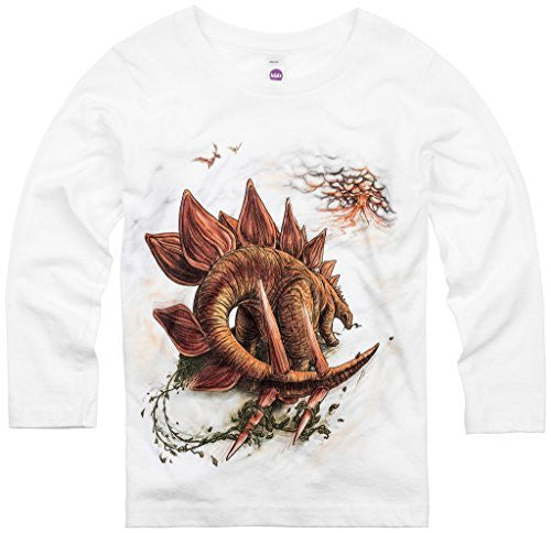 Shirts That Go Little Boys' Long Sleeve Stegosaurus Dinosaur T-Shirt
