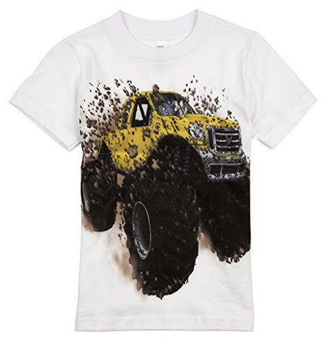 Shirts That Go Little Boys' Big Yellow Monster Truck T-Shirt