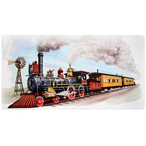 Shirts That Go Little Boys Old West Steam Train Bath and Beach Towel