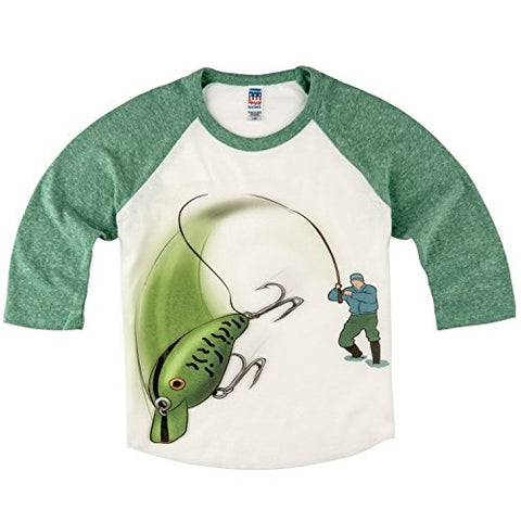 Shirts That Go Little Boys' Bass Fishing Raglan T-Shirt