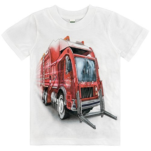 Shirts That Go Little Boys' Big Red Garbage Truck T-Shirt