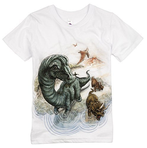 Shirts That Go Little Boys' Brontosaurus and Triceratops Dinosaur T-Shirt