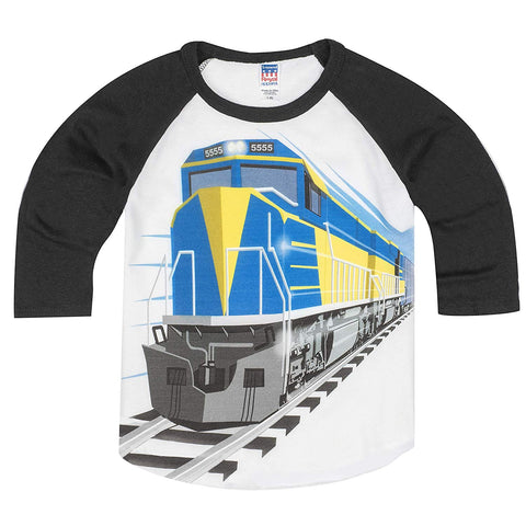Shirts That Go Little Boys' Diesel Train Raglan T-Shirt