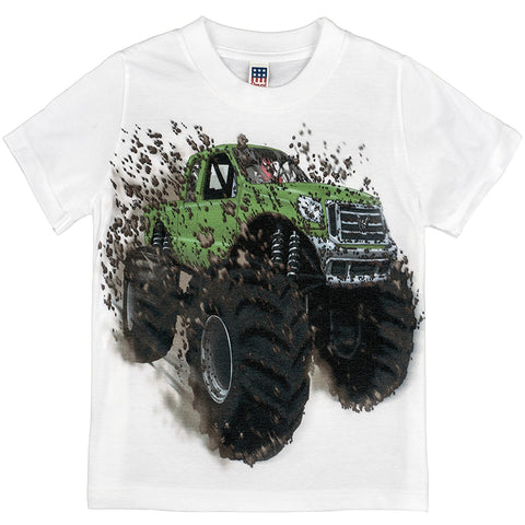 Shirts That Go Little Boys' Big Green Monster Truck T-Shirt