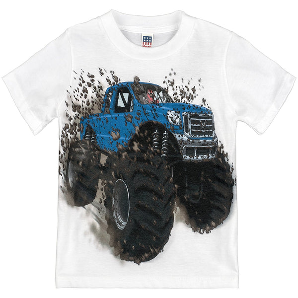 Shirts That Go Little Boys' Big Blue Monster Truck T-Shirt