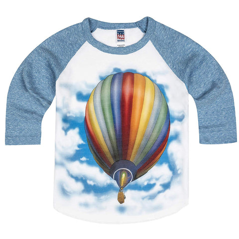 Shirts That Go Little Boys' Hot Air Balloon Raglan T-Shirt