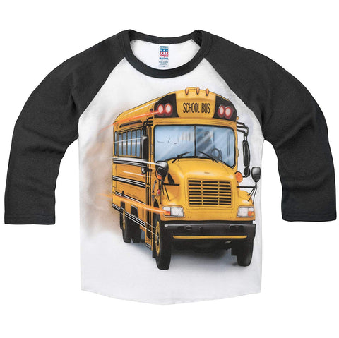 Shirts That Go Little Boys' Big Yellow School Bus Raglan T-Shirt