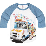 Shirts That Go Little Boys' Ice Cream Truck Raglan T-Shirt