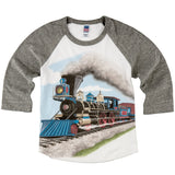 Shirts That Go Little Boys' Steam Train Raglan T-Shirt