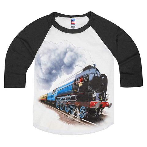 Shirts That Go Little Boys' British Railroad Train Raglan T-Shirt