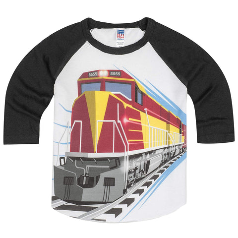Shirts That Go Little Boys' Big Red Diesel Train Raglan T-Shirt