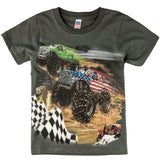 Shirts That Go Little Boys' USA Monster Trucks Racing T-Shirt