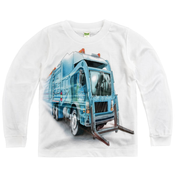 Shirts That Go Little Boys' Long Sleeve Big City Recycling Truck T-Shirt