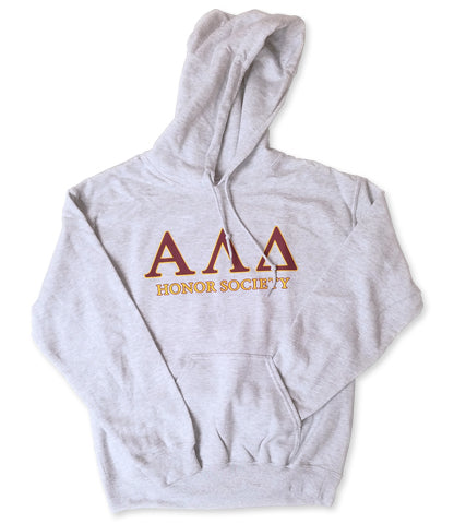 Light Grey Hooded Sweatshirt with 2 color front design