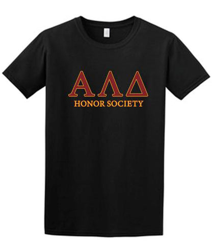 Black T-Shirt with 2 color, full front design