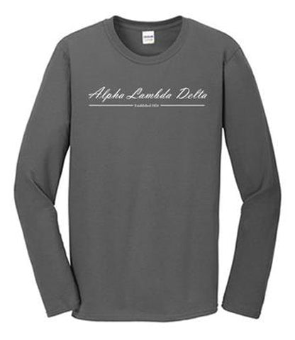 Charcoal Grey Long Sleeve T-Shirt with 1 color design