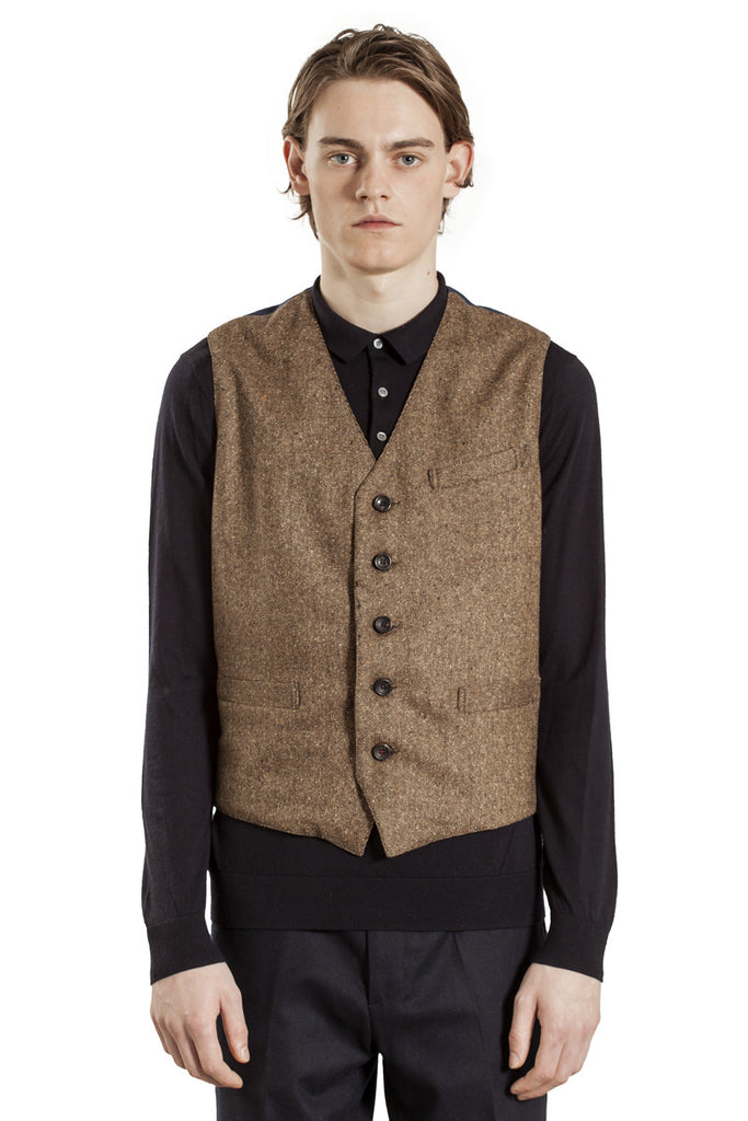 The Classic Waistcoat - Brown Tweed