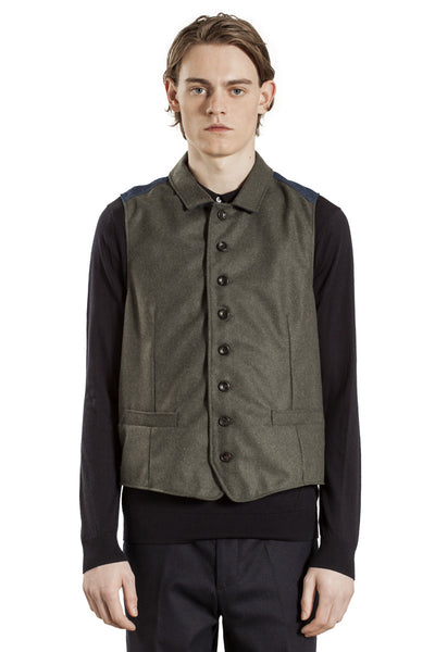 The Full Buttoned Waistcoat - Green Loden