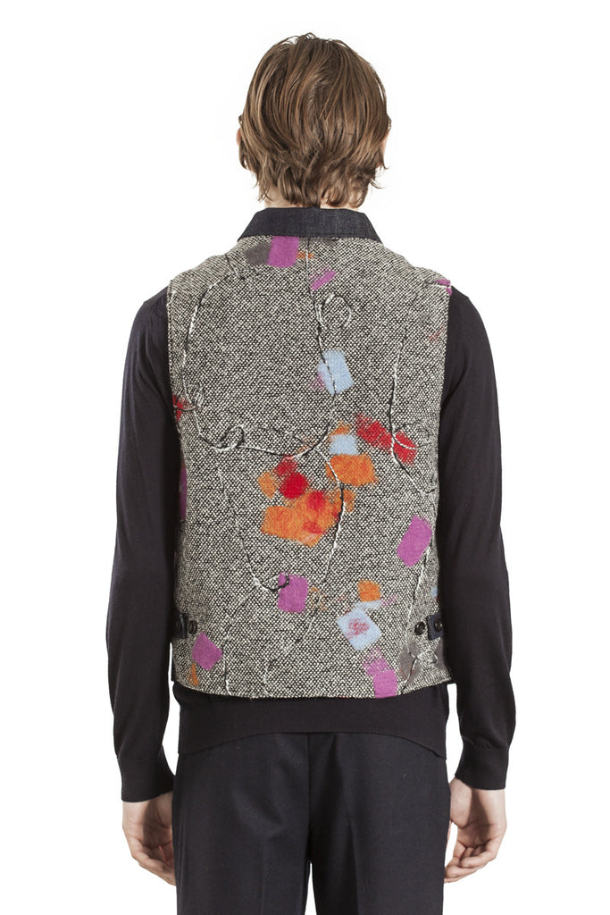 The Full Buttoned Waistcoat - Floral