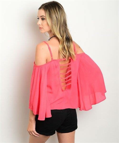 2a46898f7c182f ... CORAL OFF SHOULDER TOP - Etiquelleshop