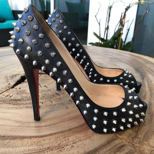 Christian Louboutin | Black Very Prive Toe Spikes Platforms