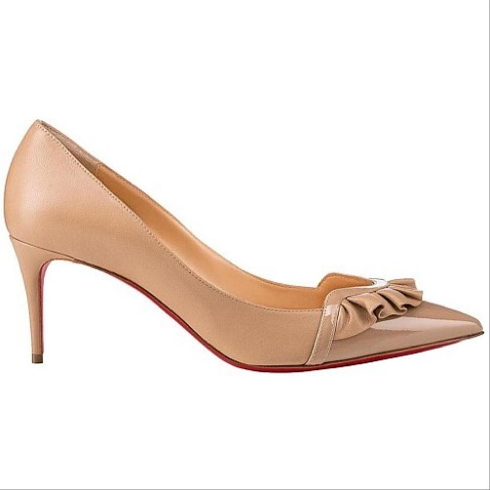 Christian Louboutin | Blush Nude Froumid 70 Patent/Nappa Shiny Low Heel Pumps