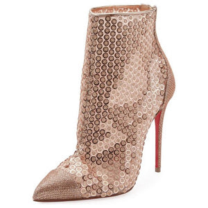 Christian Louboutin | Gold Gipsybootie Spc 100 Version Nude Boots/Booties