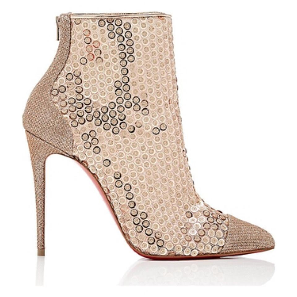 reputable site 91a7f 0eb7d Christian Louboutin | Gold Gipsybootie Spc 100 Version Nude Boots/Booties