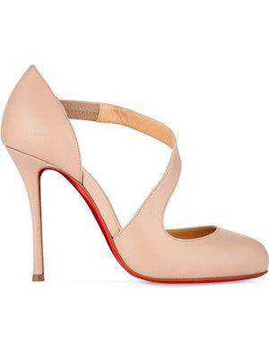 Christian Louboutin | Nude Decalcoco 100 Nappa Shiny Pumps