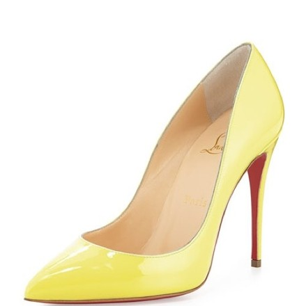 Christian Louboutin | Pigalle Follies 100 Vanille Patent Heel Pumps