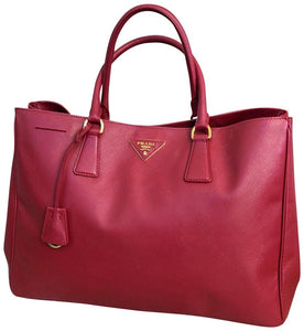 Prada | Lux Open Saffiano Large Red Leather Tote