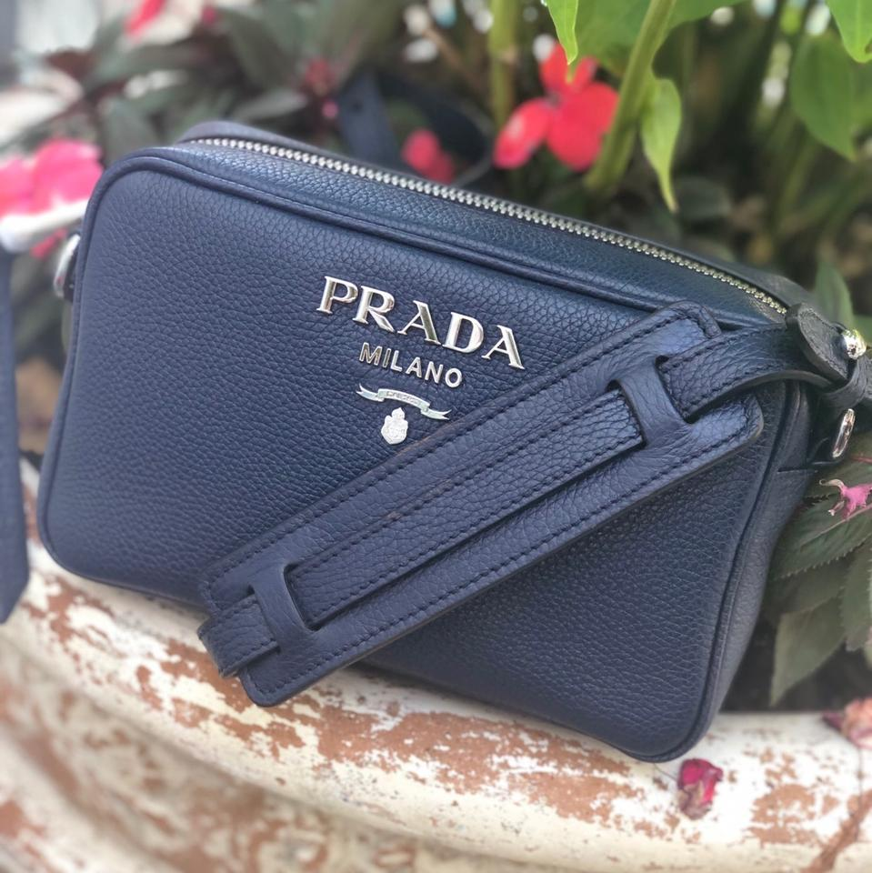 Prada | New Bandoliera Small Purse Blue Leather Cross Body Bag