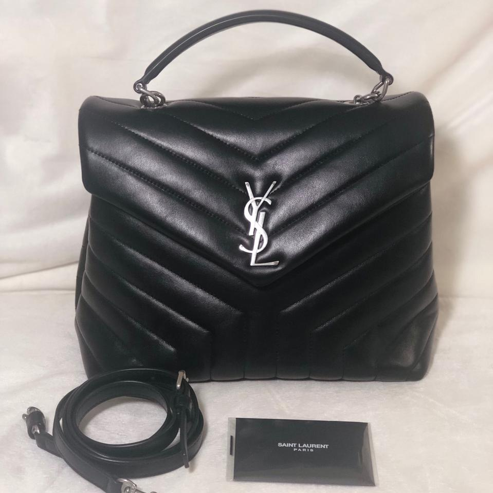 Saint Laurent | Monogram Loulou Ysl Quilted-leather Shoulder Black Leather Cross Body Bag