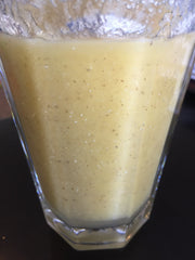 Pineapple Mango Ice pop Smoothie. Vitamins, Antioxidants, Protein, Chia Seeds