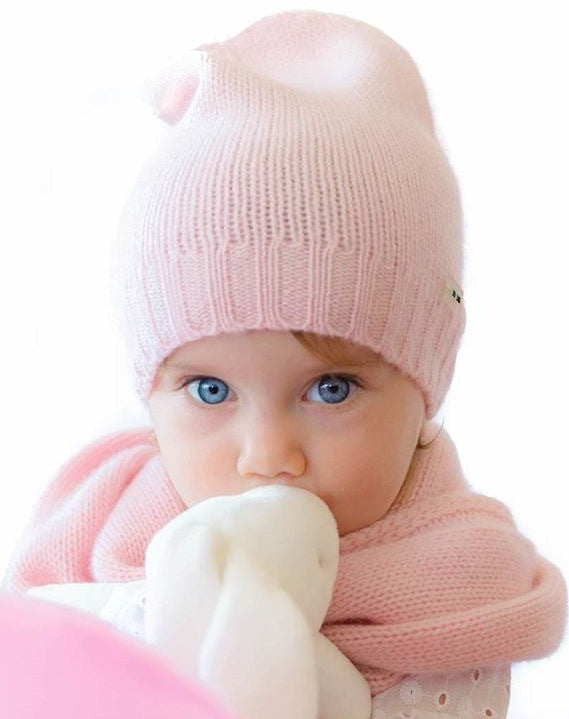 Pure Cashmere Beanie Hat Kids, 100% eco-friendly - MINIMAINS