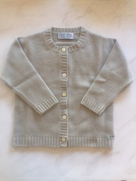 Pure Cashmere Cardigan Round-Neck, 100% eco-friendly - MINIMAINS
