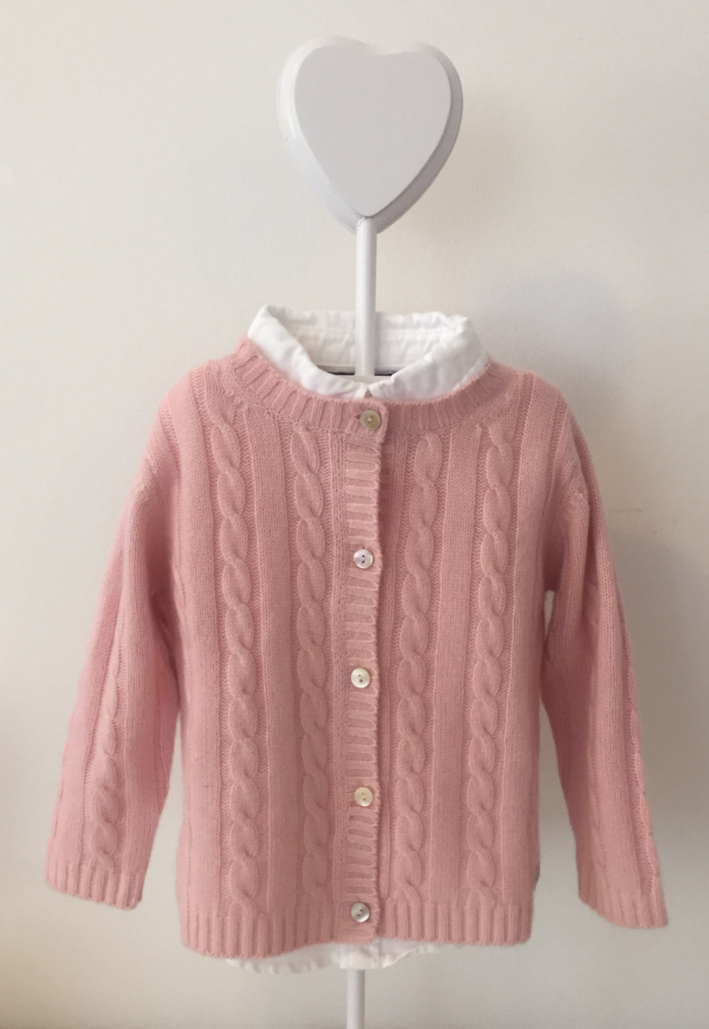 Pure Cashmere Cardigan Cable-Knit, 100% eco-friendly - MINIMAINS
