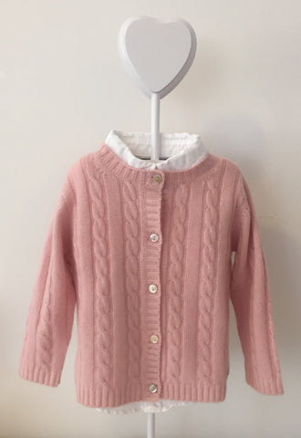 Pure Cashmere Cardigan Cable-Knit, 100% eco-friendly