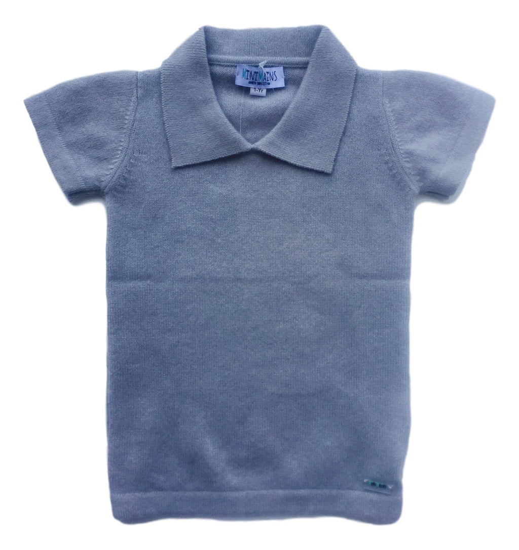 100% Cashmere Polo Sweater - MINIMAINS