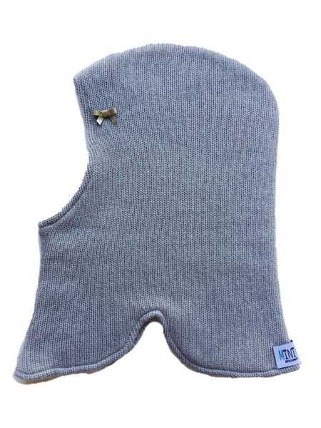Pure Cashmere Balaclava Hat with Bow, 100% eco-friendly - MINIMAINS