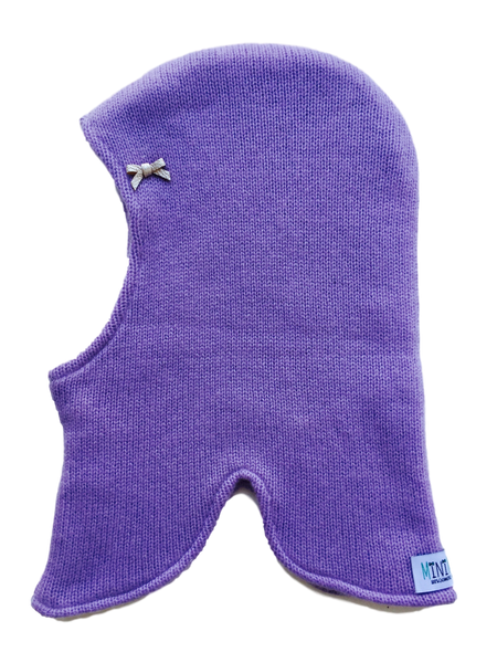 Pure Cashmere Balaclava Hat with Bow, 100% eco-friendly