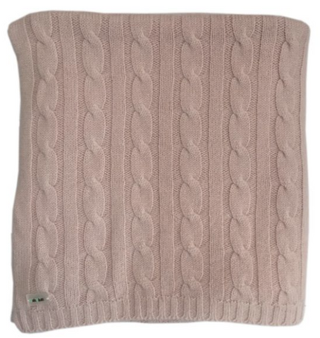 Pure Cashmere Baby Blanket Cable-Knit, 100% eco-friendly