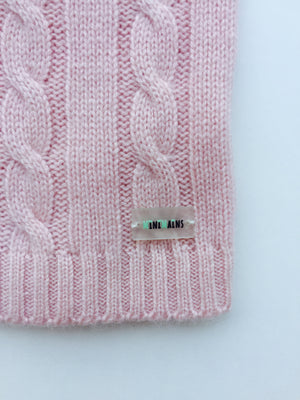 Pure Cashmere Baby Blanket Cable-Knit, 100% eco-friendly - MINIMAINS