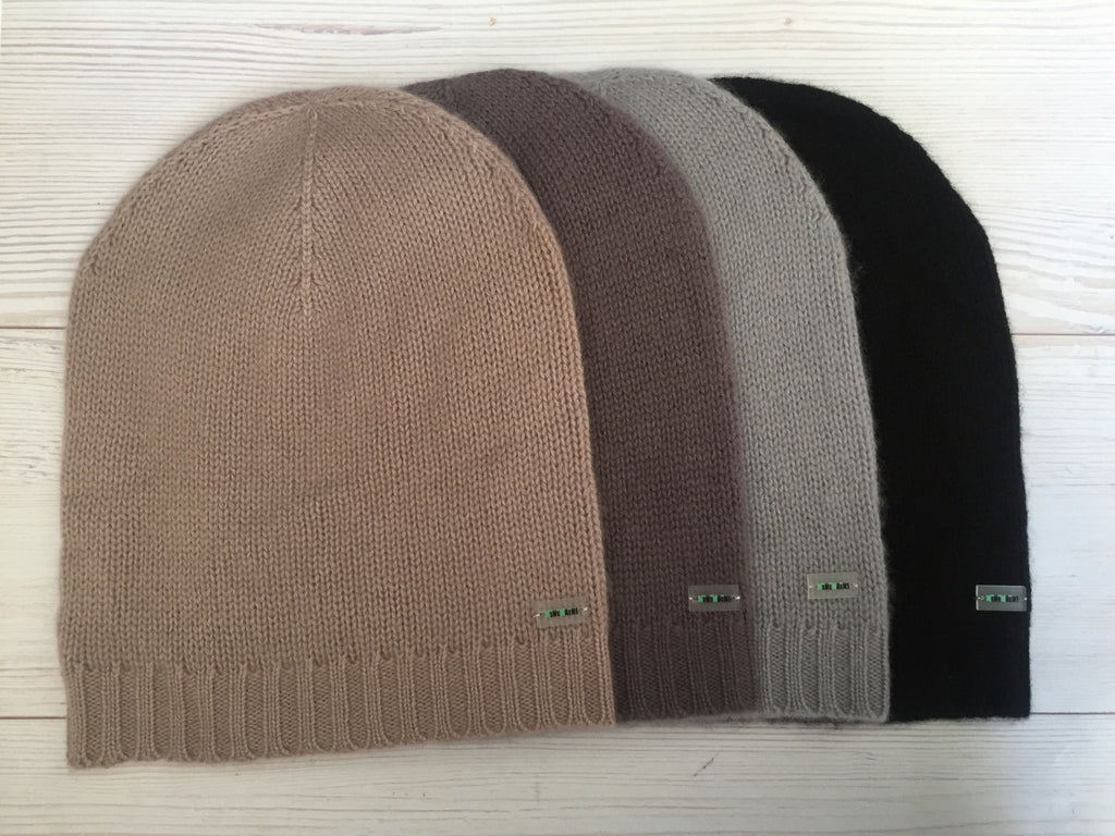 Pure Cashmere Beanie Hat Men, 100% eco-friendly, Male - MINIMAINS