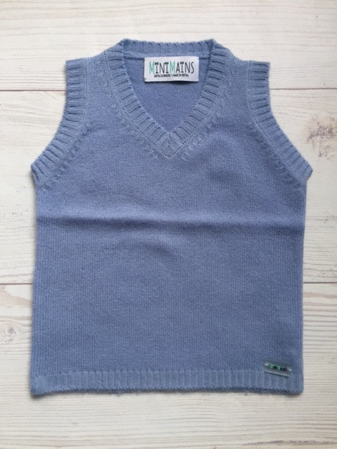 Pure Cashmere Vest sleeveless, eco-friendly - MINIMAINS